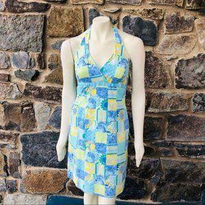 Lilly Pulitzer sunflower patch work halter dress
